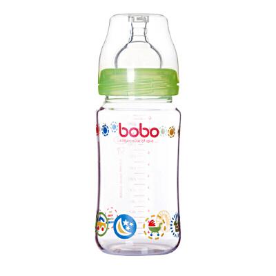 【当当自营】乐儿宝(bobo) 玻璃奶瓶240ml 绿色 IBP526-G