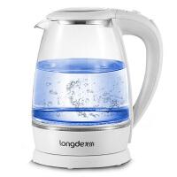 龙的 LD-SH188A玻璃电热水壶 食品级304不锈钢水壶 大容量1.8L电水壶 高硼硅玻璃开水壶