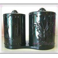想飘 安娜苏化妆盒 首饰盒 经典复古带盖首饰盒 双联筒 P92