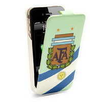 iFans苹果iphone4s背夹电池  足球移动电源 皮套手机壳   阿根廷版