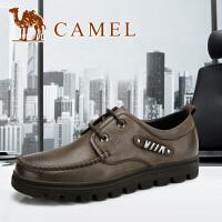 camel骆驼 男皮鞋头层 时尚商务休闲正装皮鞋 新款82064602