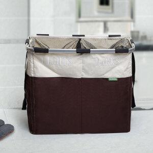 [当当自营]生活诚品 QQA6571 双格分类洗衣篮