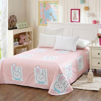 当当优品 纯棉斜纹床上用品 床单250*230cm 开心宝贝(粉)当当自营 100%纯棉 不易褪色 0甲醛 透气防潮 大尺寸