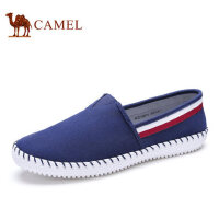 camel骆驼男鞋 2016秋季新品日常休闲低帮平底套脚帆布鞋男鞋
