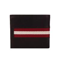 巴利(BALLY)男士牛皮条纹经典短款钱包TOLOOI290系列