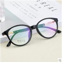 韩版圆脸简约超轻时尚舒适防蓝光镜防辐射可配变色镜眼镜框女成品近视眼镜眼镜架支持礼品卡支付