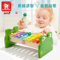 特宝儿 八音阶敲琴 婴儿玩具 彩色青蛙木制手敲琴 玩具 儿童乐器儿童玩具