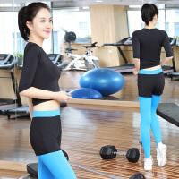 菩�q 瑜伽服 套装 女速干服 健身服 紧身服 跳操服 跑步服 运动服 显瘦瑜珈服 愈加服