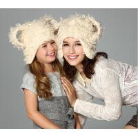 kenmont帽子男女士 冬天帽子 时尚异形帽可爱猫耳帽1495