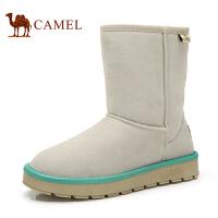 CAMEL 骆驼  新品韩版潮流 女靴雪地靴中筒保暖绒里女靴平跟套筒