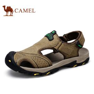 camel骆驼男鞋 夏季新款户外休闲耐磨 魔术贴 凉鞋男