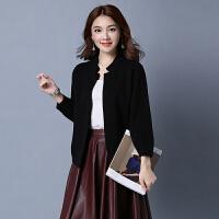 新款女韩版短款开衫宽松大码时尚外搭上衣针织衫毛衣外套潮  可礼品卡支付
