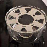 楼龙 玻璃温茶器 功夫茶具套装配件 加热底座 茶蜡加热炉 CF-95