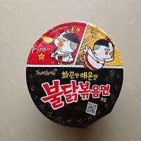 韩国进口方便面食品 三养火鸡面炒面拉面超辣鸡肉味拌面 碗面105g