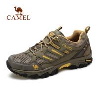 camel骆驼男鞋 耐磨运动鞋休闲鞋男跑步鞋 透气网面鞋男