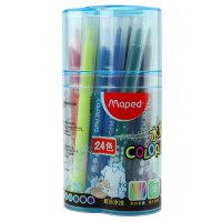马培德MAPED 24色桶装水彩笔 儿童涂鸦绘画美术用品文具 845050CH