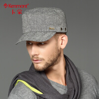 kenmont帽子男士韩版潮秋季户外平顶帽休闲军帽冬帽0565