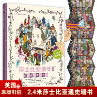 """莎士比亚通史(墙书系列)(2017年版全球""""墙书""""家长指导手册免费赠送!送完为止!)"""