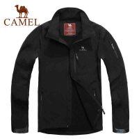 CAMEL骆驼 男装 秋季 户外软壳衣 休闲冲锋衣