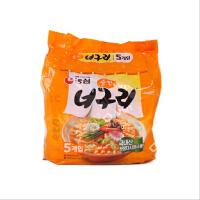 韩国进口食品 乌冬面方便面 农心小浣熊原味乌冬面多连包600g