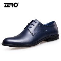 零度尚品正装皮鞋秋季新品时尚潮流尖头男鞋英伦风头层牛皮商务鞋F5243