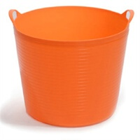 大号环保塑料储水桶 儿童沐浴桶 宝宝泡澡 婴儿沐浴盆(橙色)