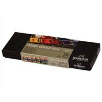 荷兰REMBRANDT水彩便携套装伦勃朗固体水彩颜料24色金属盒装