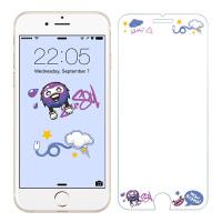 【当当自营】 ESR亿色 iPhone7/6s/6钢化膜 彩色钢化玻璃膜 康达科夫涂鸦(送贴膜神器)
