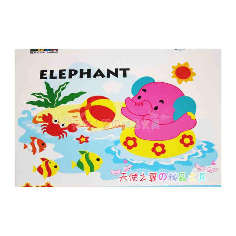 海绵纸贴画动物 花朵展示