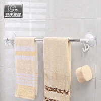 双庆 1919家居40cm吸盘毛巾杆不锈钢毛巾架浴巾架创意毛巾挂架