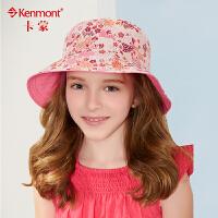 kenmont春夏儿童帽子女童大檐帽渔夫帽母子盆帽防晒帽亲子帽母女帽遮阳帽4861