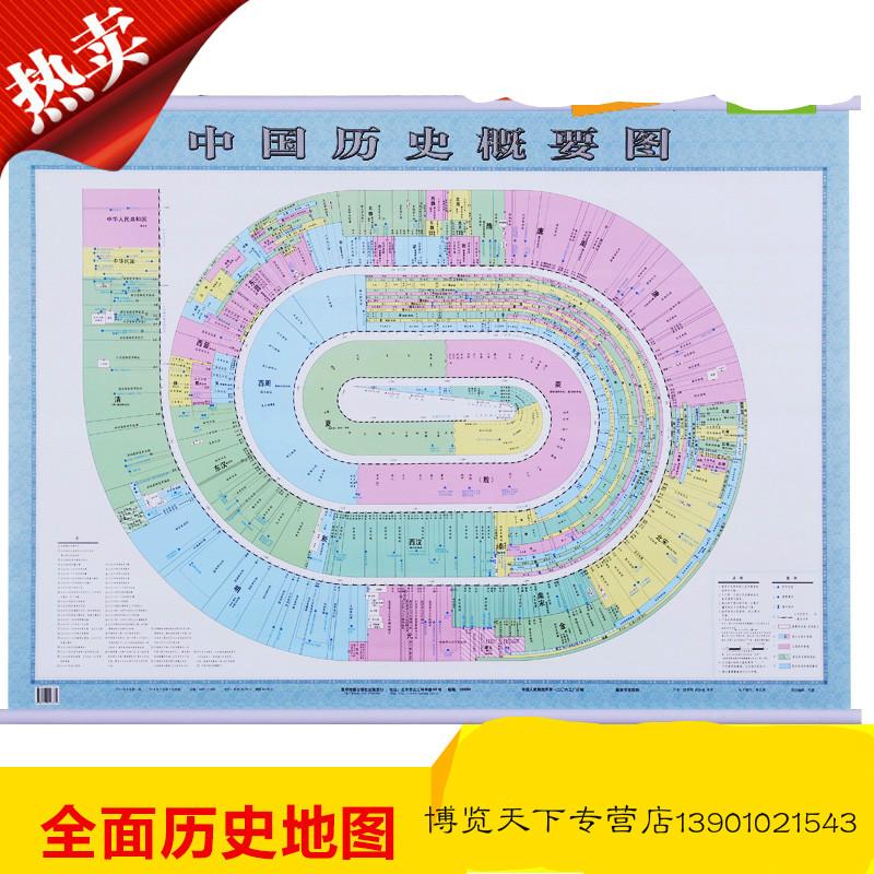【中国历史概要图 中国历史地图挂图1.1米X0.