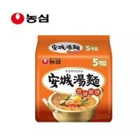 韩国进口食品 农心 安城汤面辛拉面煮面连包125g*5