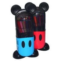 真彩迪士尼D280024米奇24色水彩笔学生用品儿童水彩笔无毒涂鸦笔