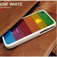 苹果iPhone 4 4s 七彩虹壳 保护套 外壳 手机壳 超值JJE128