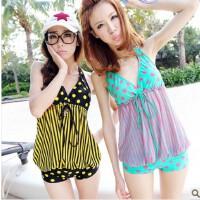 贝迪斯12025 韩国 温泉显瘦女款 可爱连体三角泳装