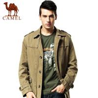 camel 骆驼男装外套 休闲时尚挡风男款夹克 翻领男士夹克新款秋冬款