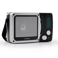 德生 R-208 小型台式调频 调幅收音机老人收音机 2节1号电池 省电耐用