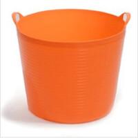 普润 大号环保塑料储水桶 儿童沐浴桶 宝宝泡澡 婴儿沐浴盆(橙色)