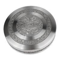 大马锡TUMASEK・进口锡器 普洱茶罐-祥龙(支架) 2418