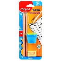 马培德MAPED 考试套装 儿童书写2B铅笔橡皮转笔刀文具套装 899915CH